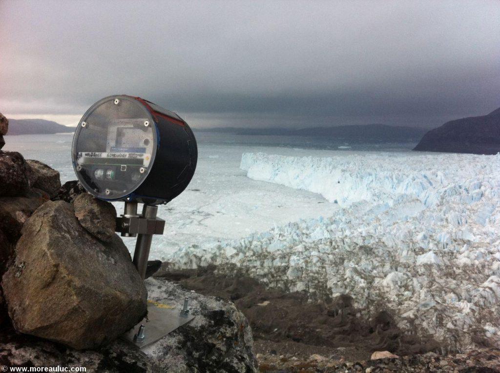 photo de glacier et appareil photo